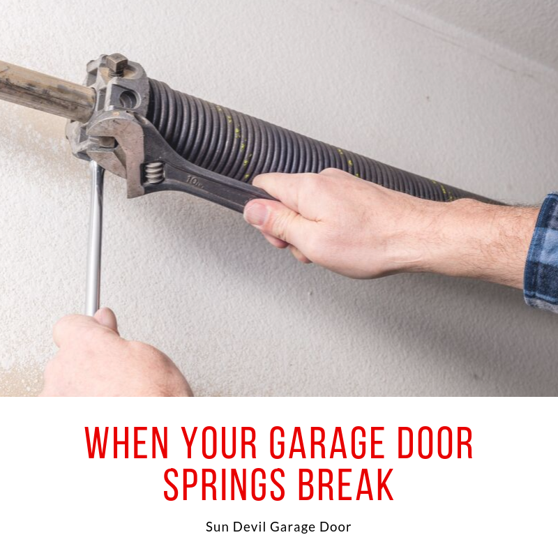broken garage door spring replacement